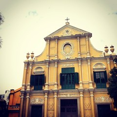 yellow church in macau