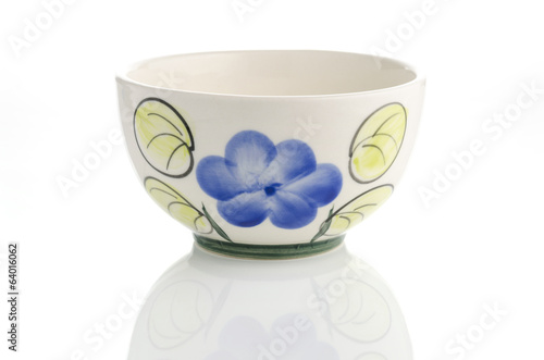 painted bowl isolated on white background