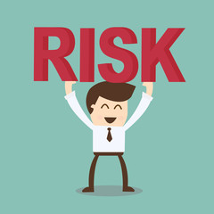 businessman and risk