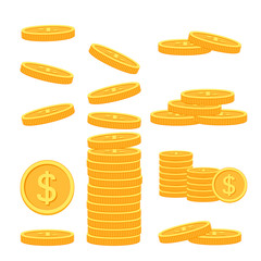 Flat vector money icons