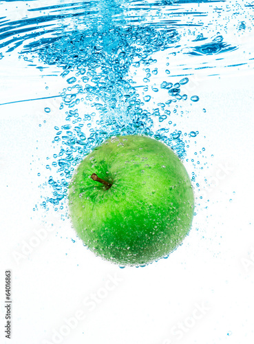 Green Apple in the Water.