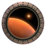 Mars Spacecraft Porthole. - 64017042