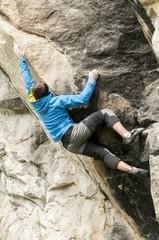 Boulder climber