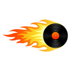Flaming vinyl