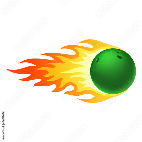 Flaming bowling ball