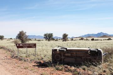 Unfall auf Safari