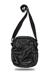 Black Leather Bag, Isolated