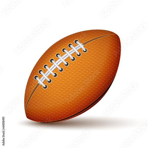 Realistic Football or Rugby Ball Icon