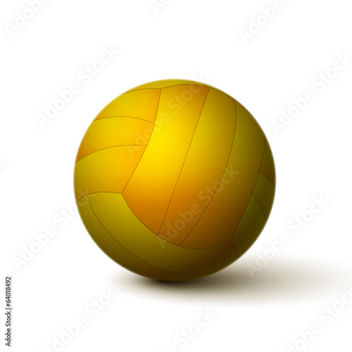 Realistic volleyball ball icon