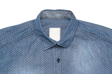 Blue Denim Shirt Close-up