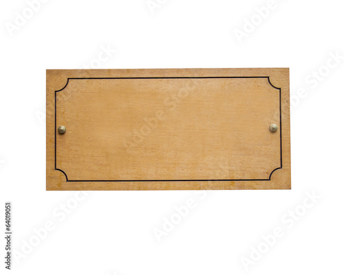 Wooden Signboard, Isolated