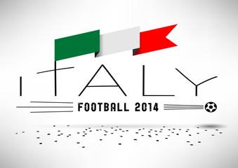 Italy Football Typographic Design