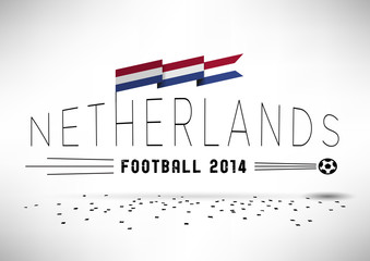 Netherlands Football Typographic Design
