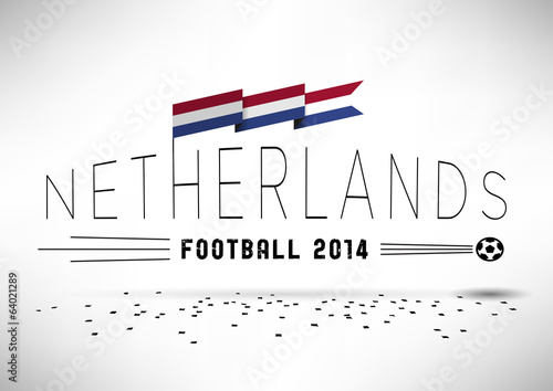 Netherlands Football Typographic Design