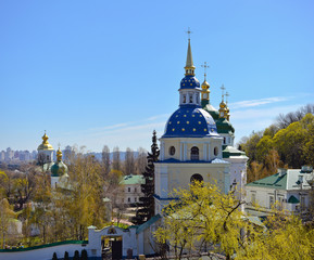 View of Vydubychi Monastery, Kyiv