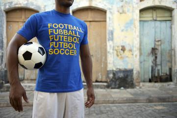 Brazilian Soccer Player with International Football Shirt