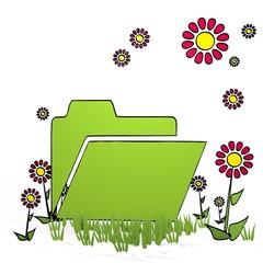 spring flower folder