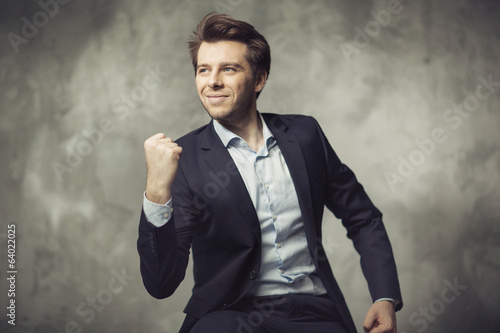Attractive young man starting his career