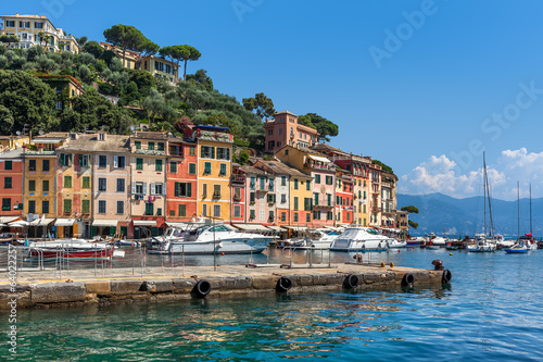 View of Portofino, Italy.