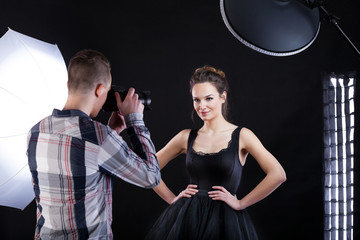 Top model and photographer