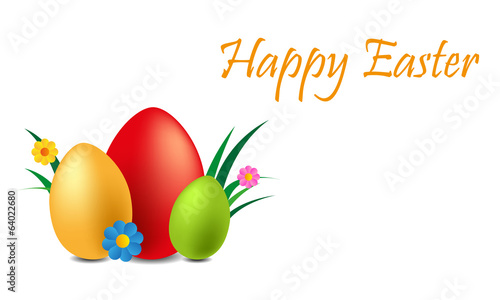 happy easter illustration background