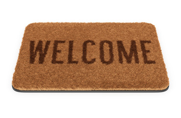 Brown welcome doormat