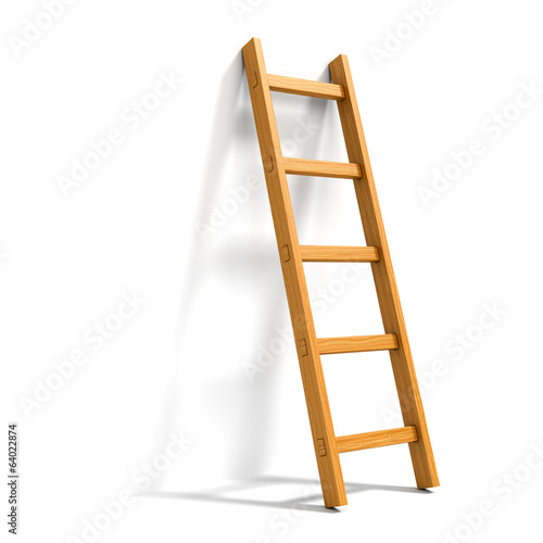 Aluminium Trappen Ladder isolated on white