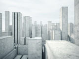 abstract concrete architecture - 64023024