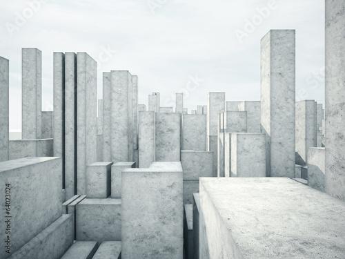 Obraz w ramie Betonowe bloki