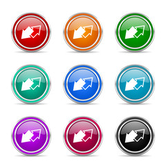 exchange icon vector set