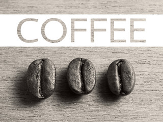 Coffee banner with Roasted Coffee beans