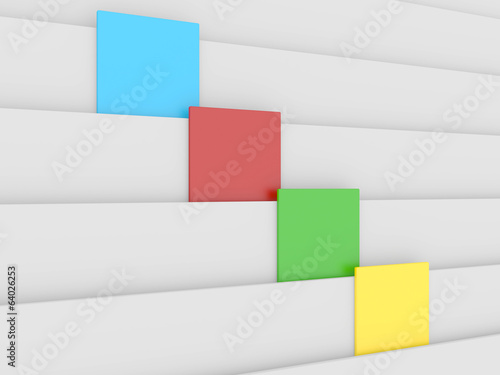 3d blank colorful block