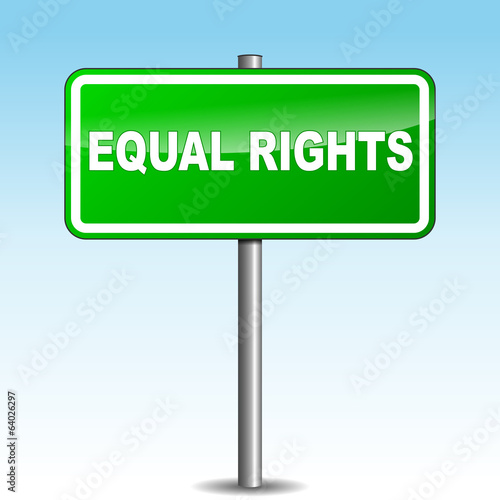Vector equal rights signpost