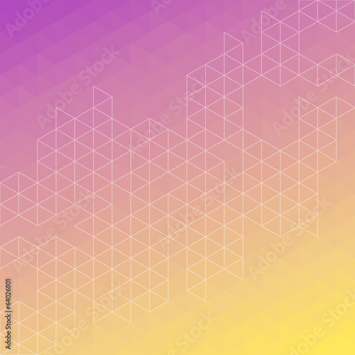 Purple and yellow abstract triangle line background