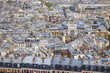 Paris, France. View of the city fromthe Basilica of Sacre Coeur