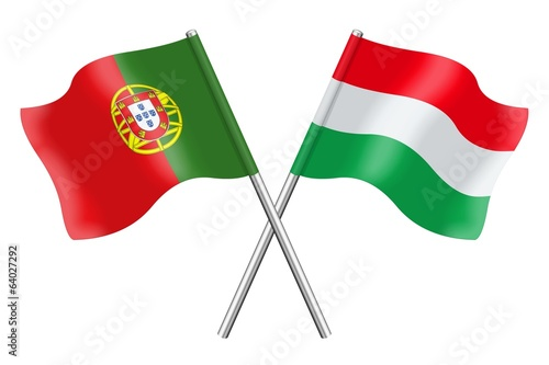 Flags : Portugal and Hungary