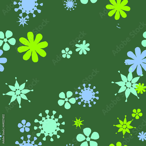Seamless decorative pattern of flowers