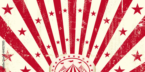 Red retro circus invitation