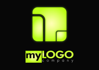 Business logo shiny rectangle design