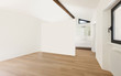 beautiful modern loft, large room with a view of the bathroom