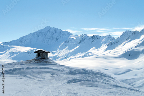 Lonely hut in Alps