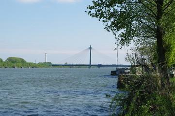 Hängebrücke über die Donau in Wien 1
