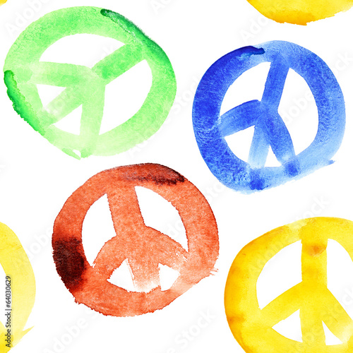 Peace signs seamless