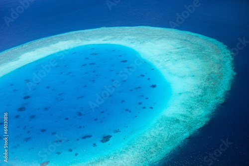 Aerial view of Maldives atoll