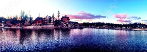 stunning sunset at big bear lake CA
