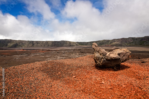 A rock in la plaine des sables (sand plain), a volcanic depressi