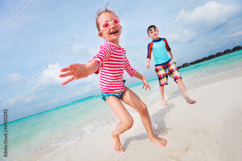 Kids having fun at beach