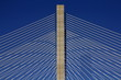 Detail of a cable-stayed bridge