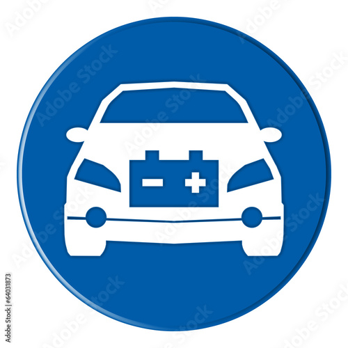 icon - electric car - blue - g897