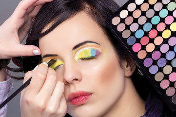 woman professional make-up